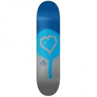 Blueprint - Spray Heart Blue Silver Skateboard Deck 8.25