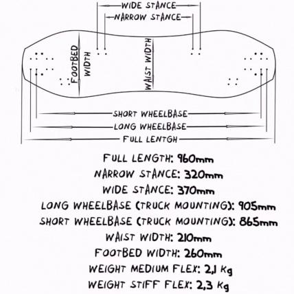 Haero Bro 96 Mountainboard Deck Sizes