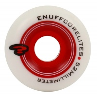 Enuff - Corelites White Red Skate Wheels 52mm