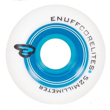 Enuff Corelites White Blue Skate Wheels 52mm