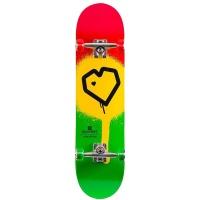Blueprint - Spray Heart Complete Skateboard 8.0 Rasta