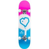 Blueprint - Spray Heart Complete Skateboard 7.75 Pink Blue