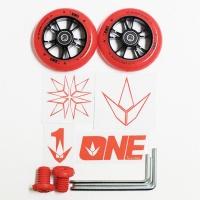 Blunt - One Pack 100mm Metal Core Wheel Pair Red