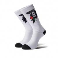 Primitive - Rosebud Skate Socks Black White