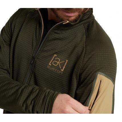 Burton AK Helium Grid Fleece Insulator Forest Night