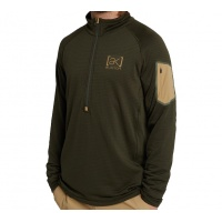 Burton - AK Helium Grid Fleece Insulator Forest Night