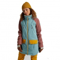 Burton - Prowess Trellis Rose Brown Gold Womens Snow Jacket