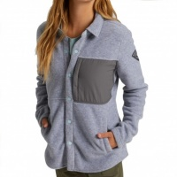 Burton - Hearth Grey Heather Womens Snap Up Fleece