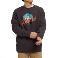 Burton - Retro Mountain Crew Phantom Mens Sweatshirt