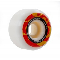 Enuff - Conical Skateboard Wheels White Orange 54mm