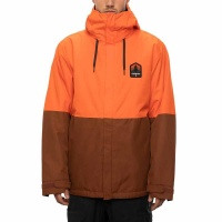 686 - Foundation Insulated Mens  Snow Jacket Solar Orange Colour Block