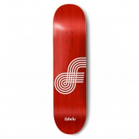 Fabric - Looping Red 7.25 Mini Skateboard Deck