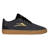 Lakai - Bristol in Charcoal Black and Gold