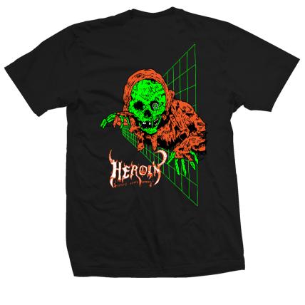 Heroin Skateboards Ghoul T-Shirt Black Back