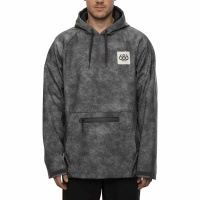 686 - Waterproof Hoody Mens Charcoal Wash