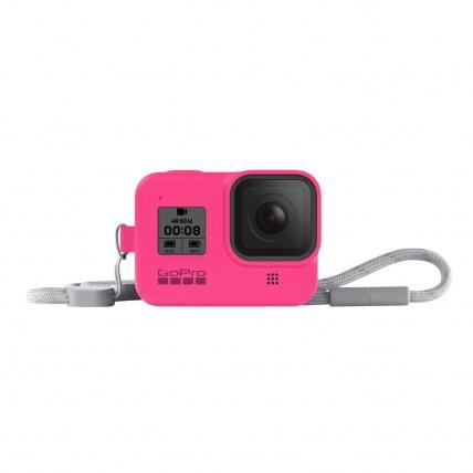GoPro HERO8 Black Sleeve & Lanyard Electric Pink
