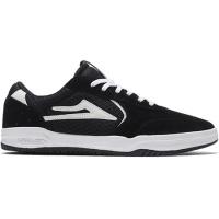 Lakai - Atlantic Black White Suede Skate Shoes