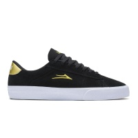 Lakai - Newport Black and Gold Suede Skate Shoes
