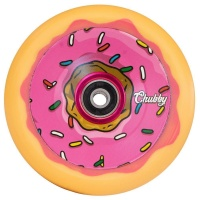 Chubby Scooter Co - Doughnut Pink and Orange 110mm Scooter Wheels