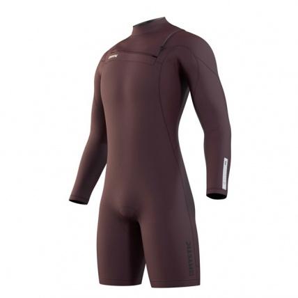 Mystic Marshall Longarm Shorty Merlot 3/2 Front Zip Mens Wetsuit