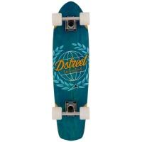 D Street Longboards - Atlas Cruiser Blue Complete Skateboard