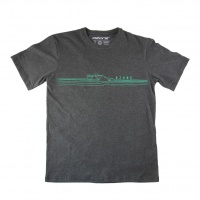 Ozone - Wind Mountain Wave Charcoal T-Shirt