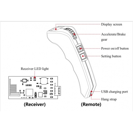 Flipsky VX2 Remote Controller Buttons Detail