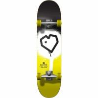 Blueprint - Spray Heart V2 7.25 Black Yellow Complete Skateboard
