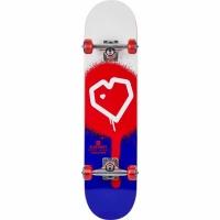 Blueprint - Spray Heart V2 8.0 Red Blue Complete Skateboard