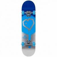 Blueprint - Spray Heart V2 8.25 Blue Silver Complete Skateboard
