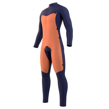 Mystic Star 3/2mm Black Front Zip Wetsuit Inside Linings Front