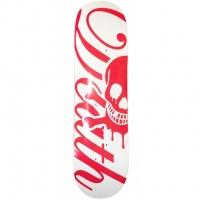 Death - Red White Script Skateboard Deck