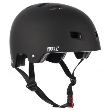 bullet skateboard helmet matt back front