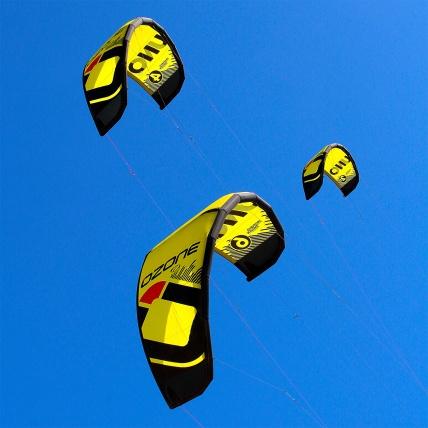 Ozone Uno V2 Kitesurf Trainer Sizes in Flight