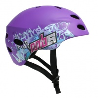 MBS - Helmet Purple Logos