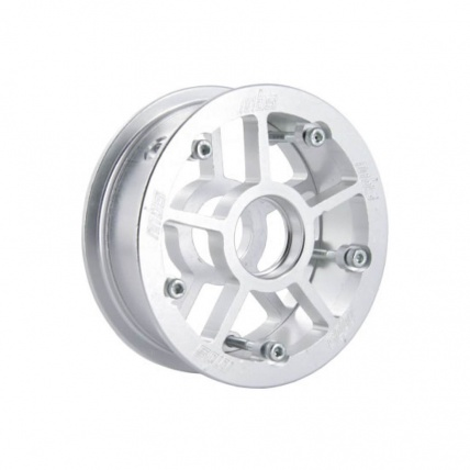 mbs rockstar pro aluminium mountainboard hub silver single hub