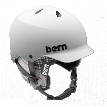 Bern Snowboarding Helmets. Bern Watts Eps Gloss White