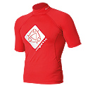 Mystic - Star Short Sleeve Red 2012 Rash Vest