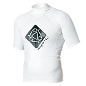Mystic - Star Short Sleeve White 2012 Rash Vest