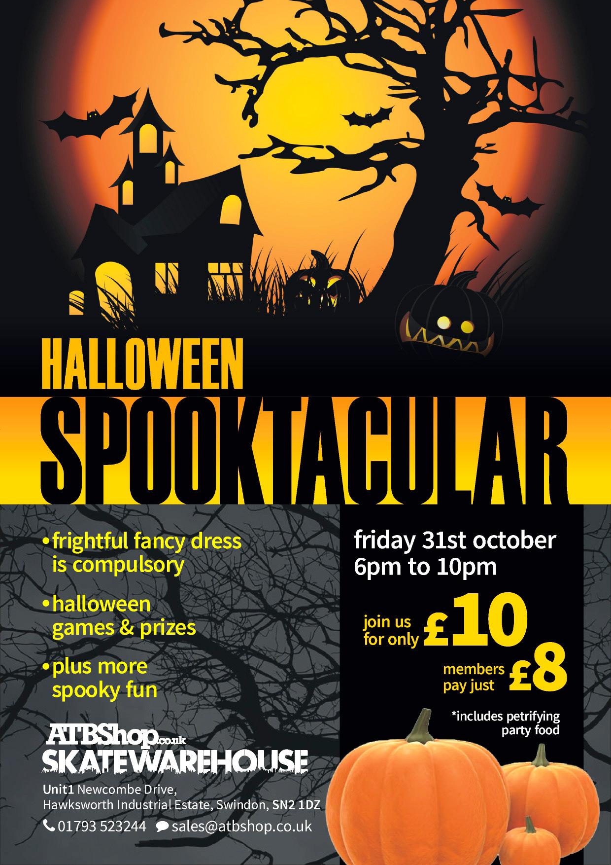 halloween-spooktacular-poster - ATBShop Skate Warehouse