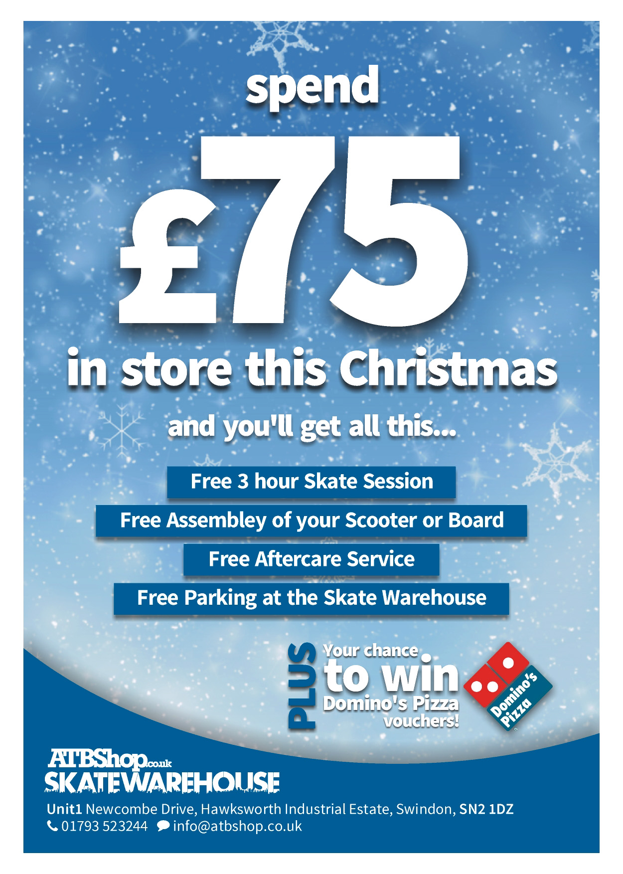 Get a Free Skate Voucher when you spend £75 with us!